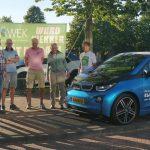 Elfwegentocht van start, elektrische BMW in Wommels